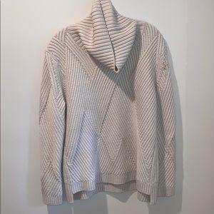Rag & Bone Cream 100% Merino Wool Cable Sweater